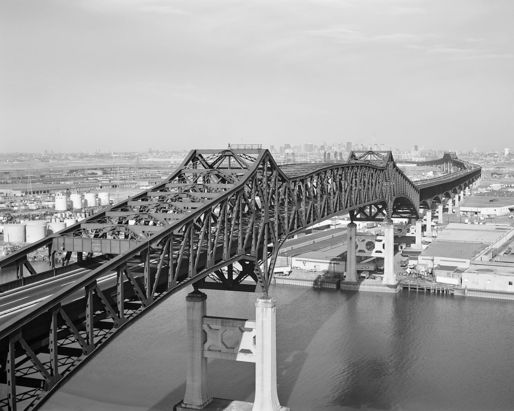 "Even after pouring billions of dollars into the rehabilitation of New Jersey's crumbling Pulaski Skyway, the 82-year-old structure will remain ""functionally obsolete,"" unsafe to carry the trucks that fuel this industrial megaregion. (Image via Wikipedia)"