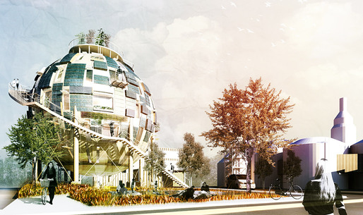 Third Prize at the 2011 DOW Design to Zero competition: Oil Silo Home by PINKCLOUD. DK (Image: PINKCLOUD. DK)