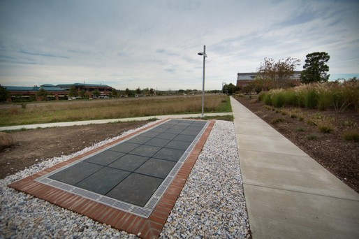 GWU's solar sidewalk. Image via http://www.gizmag.com/solar-powered-sidewalk/29351/pictures#2