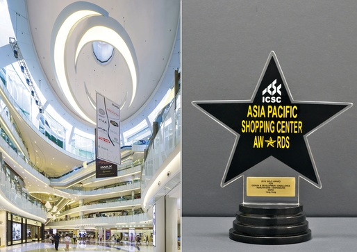 Aedas-designed MOKO in Hong Kong receives a Gold Award at ICSC Asia Pacific Shopping Center Awards 2016