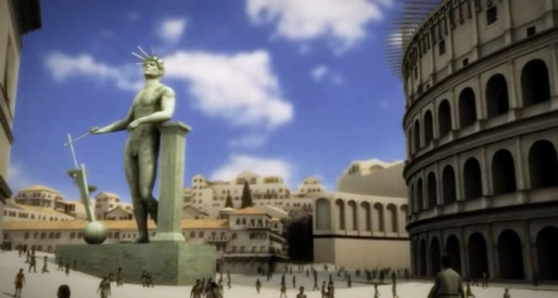 A still from the virtual tour of Ancient Rome. Credit: Rome Reborn via Open Culture