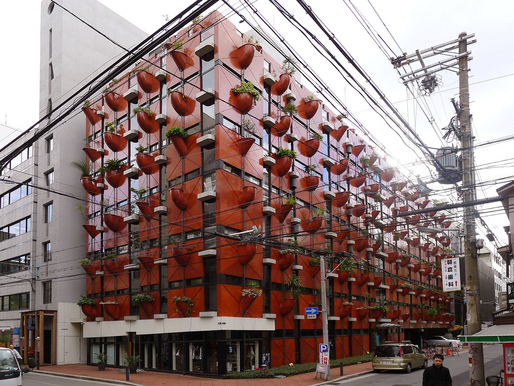 Organic Building in Osaka, Japan, by Gaetano Pesce. 1993