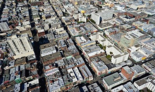San Francisco's Chinatown - one of the most densely populated parts of the city. Bidding wars and multiple applications are now common in the city for both buys and lets. (The Guardian; Photograph: Michael Layefsky/Flickr Vision)
