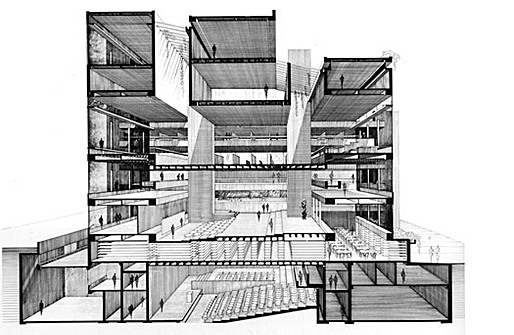 Paul Rudolph, Rudolph Hall, section