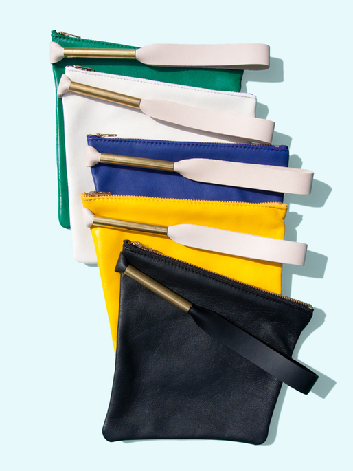 Otaat / Myers Collective square pouch with strap. Image courtesy of Otaat / Myers Collective.