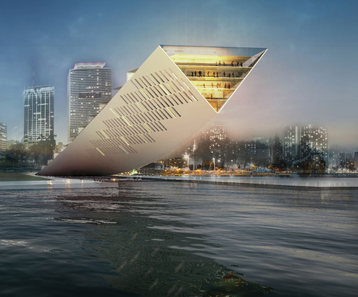 Detail of the 1st Place Project, MIAMI LIFT by Studio Dror 