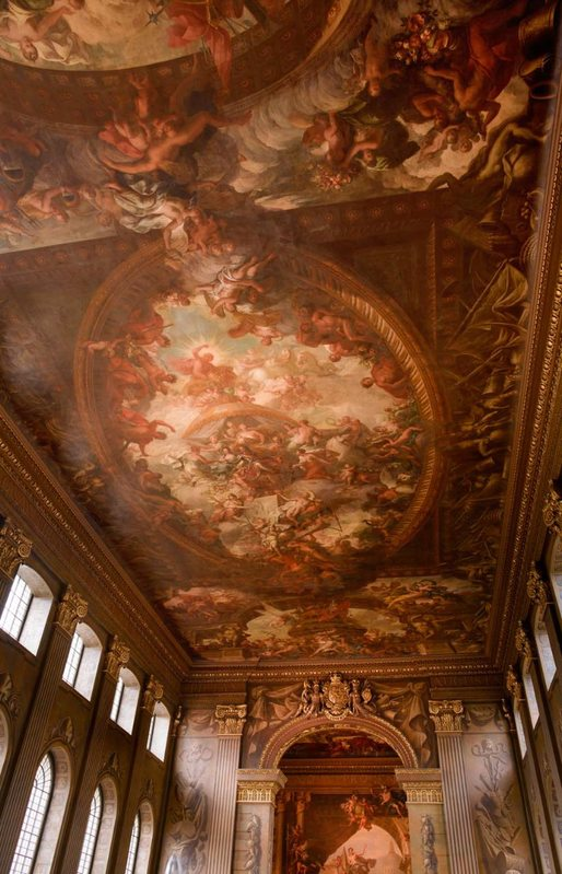 Ceiling of the Painted Hall at the Old Royal Naval College. Photo: Peter Dazeley, courtesy of ORNC.