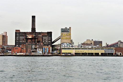 The Domino Sugar Factory is one of the remaining highlights of Brooklyns formerly industrial waterfront. Credit: Philip Greenberg for The New York Times