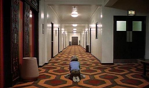 Film psychology THE SHINING spatial awareness and set design
