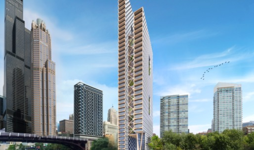 Perkins + Will proposes 80-story timber skyscraper in Chicago