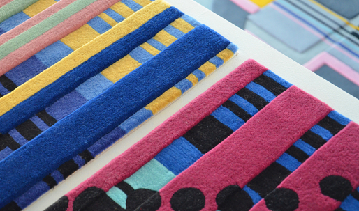 "Cutting a Rug: Making the Abstract Tangible With Urban Fabric + Elena Manferdinis ""Building Portraits"" area rugs"