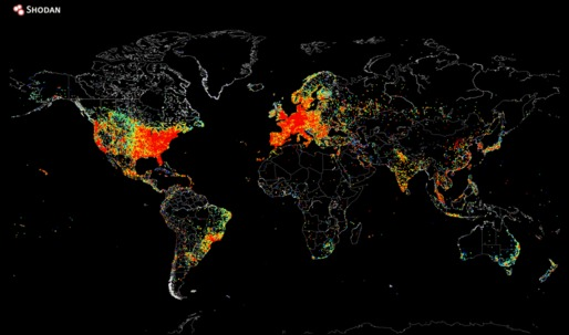 Map Plots the World's Internet Devices