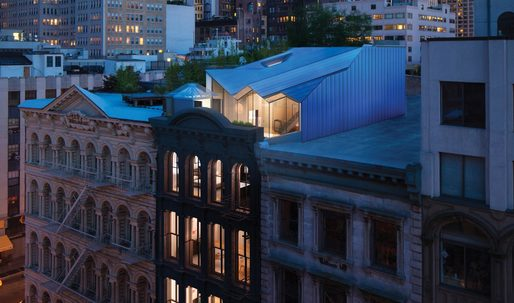 Work AC designs modern single-family home on top of one of New York's oldest cast-iron façade buildings