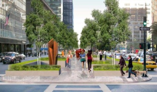 Proposed: A promenade up an expanded Park Avenue median
