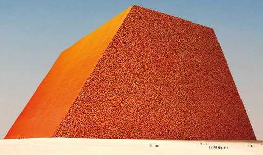 Conceptual artist Christo is building a gigantic sculpture out of oil barrels in Abu Dhabi