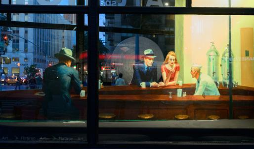 "Edward Hopper's ""Nighthawks"" as life-size installation at Flatiron Building"