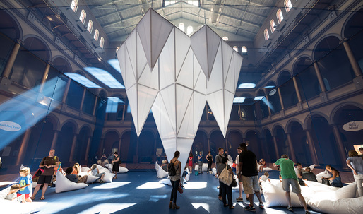Dive into James Corners field of ICEBERGS, now at the National Building Museum