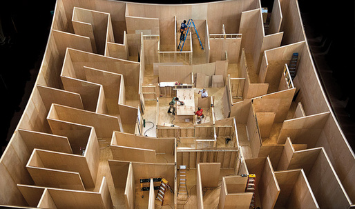 Get lost in BIG's human-scale maze
