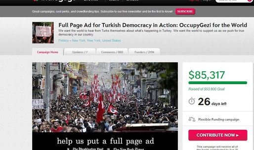 Full-Page Ad Inspired By Turkish Protests Is One Of Indiegogos Fastest Campaigns Ever