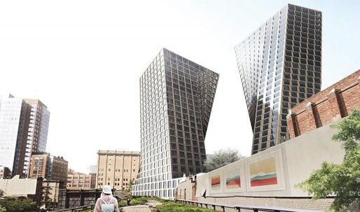 Updated renderings revealed for Bjarke Ingels High Line twin(ish) towers