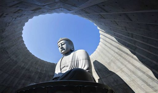 """Tadao Ando's """"head-out Buddha"""" creates ample opportunities for reflection, both spiritual and literal"""