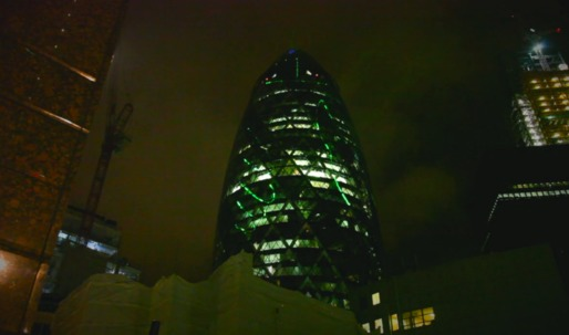 Act of Parliament, by Shift//Delete, turns the Gherkin into the worlds biggest penis