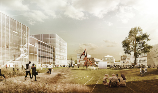 """OPEN"" - winning entry by Ramon Bernabe Simo + Tomas Labanc for Amstetten in Europan 12 Austria"