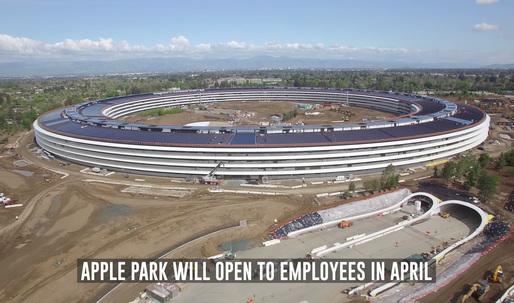 An exquisite drone tour over Apples new campus reveals the pond, furniture, + a new theater