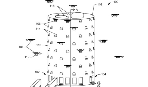 Amazon submits patent for a drone tower