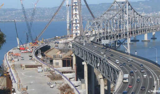 Time-Lapse of San Francisco-Oakland Bay Bridge Construction