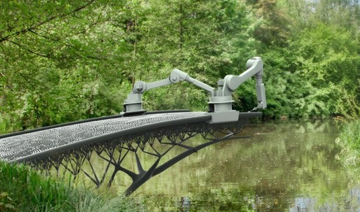 Amsterdam could get a new 3D-printed bridge built by robots