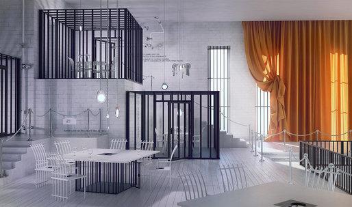 """Poczekalnia"", a restaurant design inspired by prison"