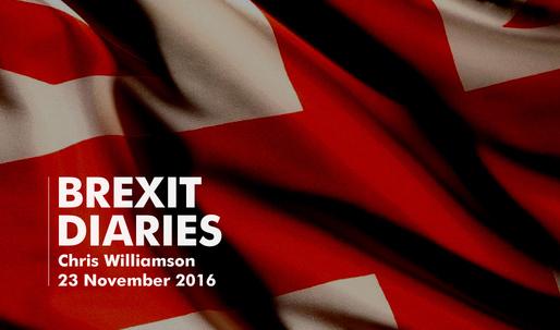Brexit Diaries: Chris Williamson, 23 November 2016