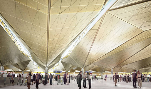 Construction Update of St. Petersburg's Pulkovo Airport by Grimshaw Architects