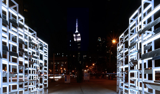 INABA's Flatiron Plaza installation adds a frame to NYC landmarks