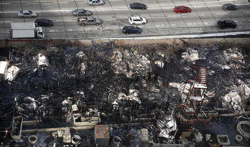 Downtown LA fire determined to be arson... Architecture hate crime?