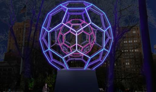 "Artist Leo Villareal's ""Buckyball"" installation to light up Madison Square Park"