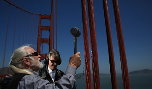 Golden Gate Bridge sounds inspire musical works