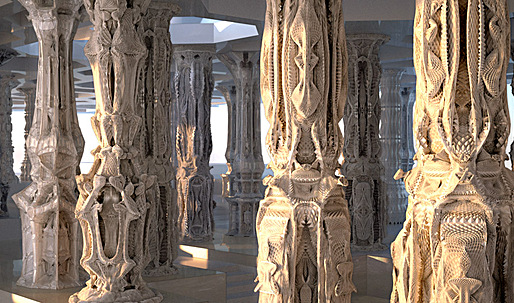 Neo-baroque or 'sci-fi' gothic: Michael Hansmeyer's computational columns debut