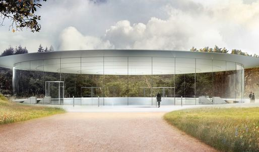 "Foster + Partners Apple ""spaceship"" set to touch down and open up in April"