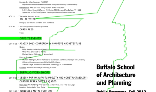 Get Lectured: Buffalo School of Architecture and Planning Fall 13