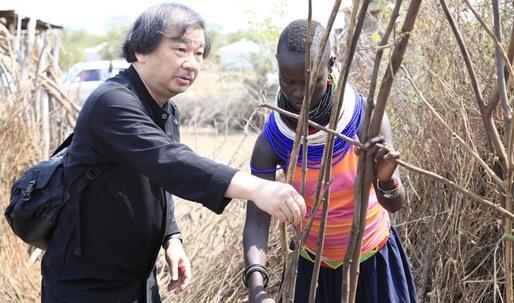 Shigeru Ban is building shelters for a Kenyan refugee settlement