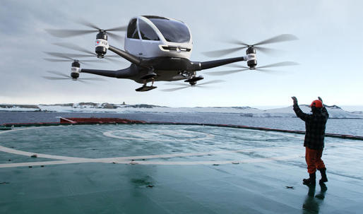 The Ehang passenger drone might be another way people will get around town someday