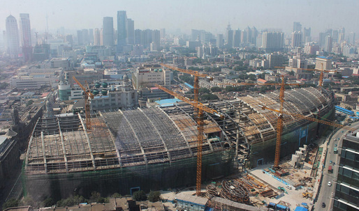 Construction Update: Kohn Pedersen Foxs Riverside 66 in Tianjin, China