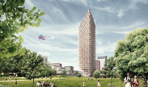 Berg | C.F. Møller & DinellJohansson propose world's tallest wooden skyscraper for Stockholm