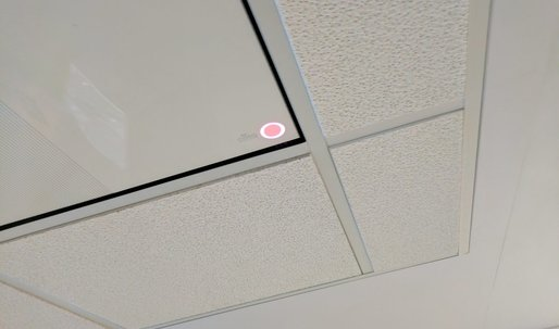 Ceiling tile that wirelessly charges devices unveiled at CES 2017