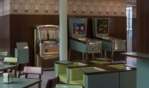 This Wes Anderson-designed bar is retro with a capital R