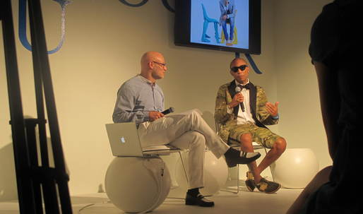 "Pharrell Talks Jean Prouvé, Gio Ponti, Zaha Hadid, And ""Other Super Genius Guys"" at Design Miami/"