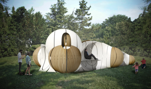 "Ibañez Kim Studio wins Folly 2015 with ""Torqueing Spheres"""