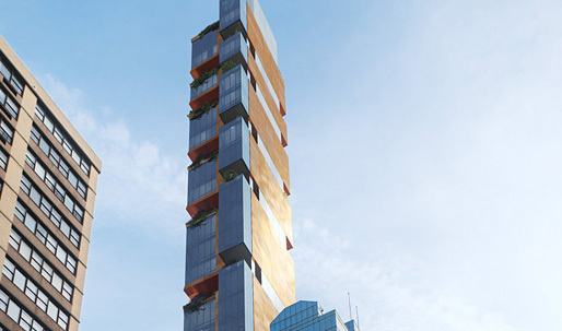 The new skinny kid on the block: 303 E. 44th St promises floating gardens in the Manhattan skies